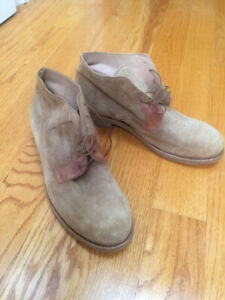 LEATHER  - SUEDE/ ITALIAN BOOTS - size 10 - MEN