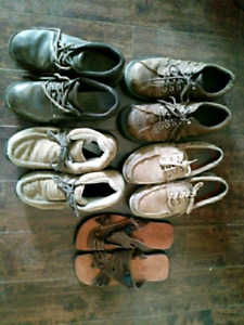 Mens size 9-10 leather shoes and sandals $10 EA or $35 takes all