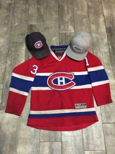 CAREY PRICE MONTREAL CANADIENS JERSEY YOUTH XL, HATS AND SHIRT
