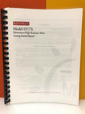 Keithley Model 6517a Electrometerhigh Resistance Meter Getting Started Manual