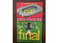 FA Cup Final Programme 1965 Swindon Town vs Arsenal