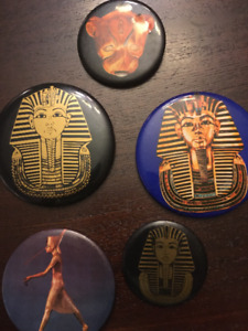 King Tut Collectable Buttons. Egypt & Art Gallery of Ontario