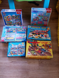 Kids jigsaws 6in total two are giant floor puzzles,ages for3yrs plus.