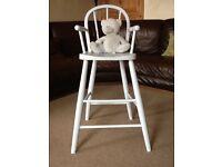 Shabby chic teddy bear high chair