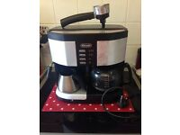 DeLonghi coffee machine and milk frother