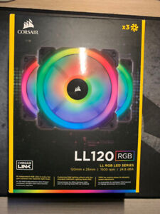 new Corsair LL120 RGB *3 led fans for sell
