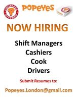 Popeyes Kitchen-North East and West locations hiring!