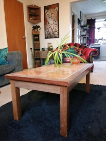 Excellent condition 1970s vintage retro coffee table with tiled top