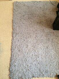 Lovely fluffy grey rug