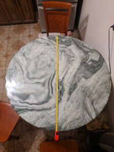 """Sea Green 51"""" Faux Marble Dining Room Table (Sturdy) $100"""