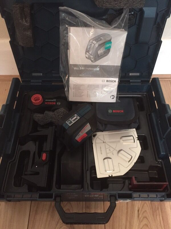Bosch cross line laser kitin Gravesend, KentGumtree - Bosch laser kit, this is a excellent piece of kit, This has only been used a few times, the laser and kit are as new condition, the carry case is a Bosch stackable. £90 collection only Gravesend Gary 07759 079682