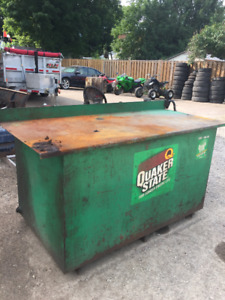 Used oil tank/work bench