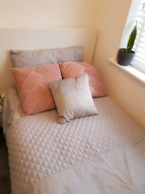 Single White Solid Bed Frame