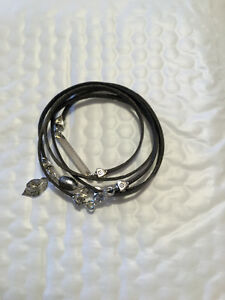 LEATHER AND STERLING SILVER WRAP