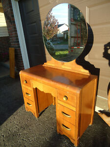 SET OF 3 MATCHING VINTAGE WATERFALL DRESSERS + VANITY