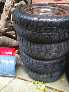 Honda accord or civic winter rims and tire 14 inch
