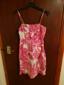 Pink Print Dress Size 12