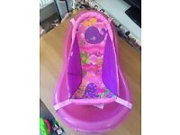Pink baby bath tub infant girl fisher price