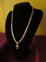 #130 New 9K Yellow Gold Filled Arab Style Cuban Link Chain