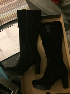 Knee High Black Suede Boots for Sale!