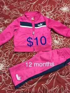 Baby clothes lot ( puma, carters brand )