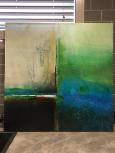 Green and Blue Art - 39.5 x 39.5