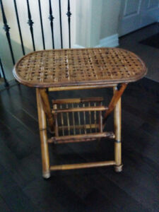 Bamboo/Rattan Folding Side Table