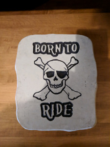 Born to Ride Garden/walkway stone