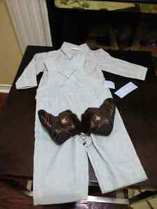 Bnwt overall outfit and boots 3_6 months
