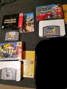 N64 games w/ boxes and manuals