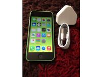 APPLE IPHONE 5 GREEN 5C OPEN TO ANY NETWORK!