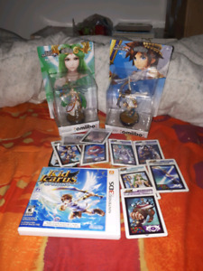 Kid icarus 3ds bundle. Game. Amiibo. And cards