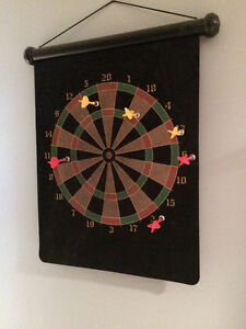 Like New Roll Up Magnetic Dart Board