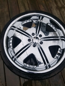 """20"""" dub rims and tires"""