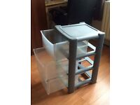 Plastic 3 drawer unit RRP 17.99
