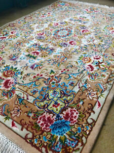 Two Handknotted Persian Rugs - Tabriz Silk and Wool (3.2' x 5')