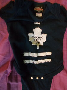 Toronto Maple Leafs Baby Diaper Shirt Size 6 Months