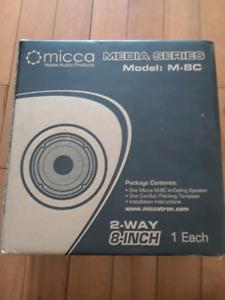 """Micca M-8C Media Series 2-way 8"""" In-Ceiling Wall Speaker"""