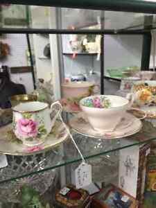 variety of nice tea cups