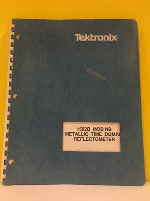 Tektronix 061-3688-00 1502b Mod Nb Time Domain Reflectometer Instruction Manual
