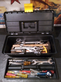 Quantity of hand tools inc. hammers spanners and screwdrivers etc.
