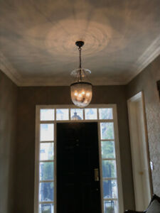 Hurricane style 4 bulb ( dimmable)hanging light fixture