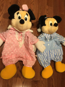 Disney Mickey and Minnie Plush Pillows with Zip Compartment