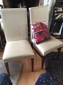 Leather M&S chairs x 2