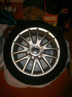 Like NEW Nord Frost German winter tires on original bbs Vw rims