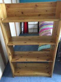 Pine bookshelf for sale