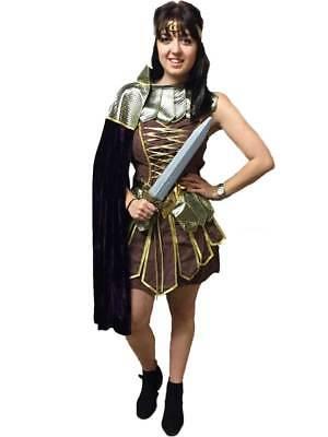 Roman Centurian Gladiator Costume Fancy Dress Woman Amazonian Warrior Lady - Xena Warrior Kostüm