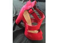 New look red heels