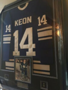 DAVE KEON Toronto Maple Leafs Autographed Framed Hockey Jersey