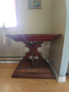 Antique pulpit & misc